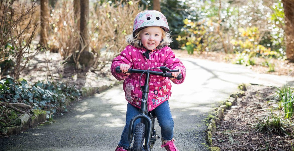 Teaching little one to ride a balance bike