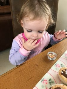Having a taste - baking with a toddler