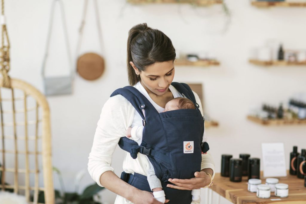 Mother with baby in Carrier