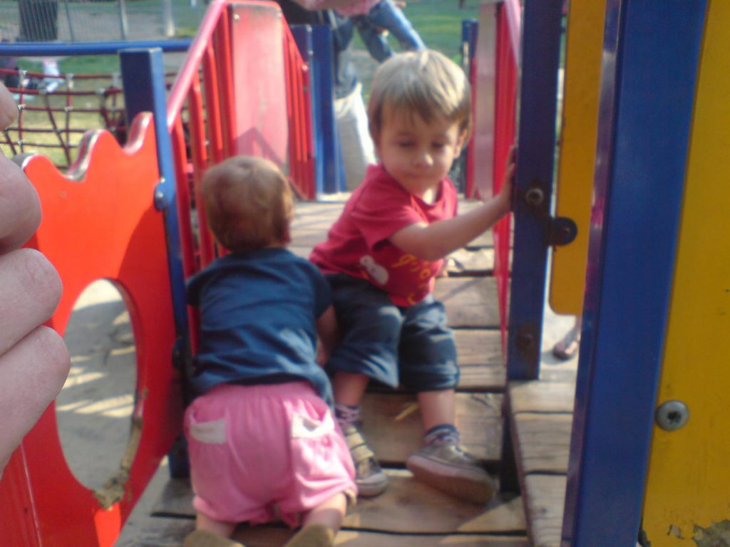 Children playing on a park